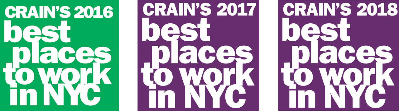 Cranes Best Places to Work in NYC 2016, 2017, 2018