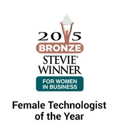 2015 stevie winner female technologist startup of the year